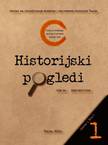 Časopis Historijski pogledi broj 1. / Journal Historical Views no. 1